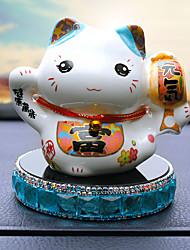 Diy ornements d'automobile pendentif de voiture de parfum de chat chanceux de style chinois&Ornements en céramique