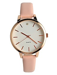 Women's Fashion Watch Wrist watch Japanese Quartz / PU Band Elegant Casual Pink
