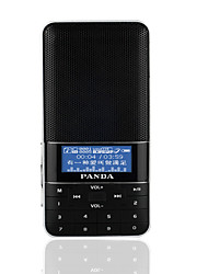 DS-178 Radio portatil Reproductor MP3 Tarjeta TFWorld ReceiverNegro