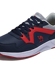 Running Shoes Camel Men's Fashion Comfort Leisure Low Level Lace-up Sport  Color Red/Blue