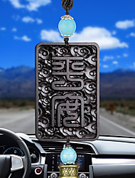 DIY Automotive Pendants Chinese Style Tassel Home Ornaments Wooden Car Pendant & Ornaments Ebony
