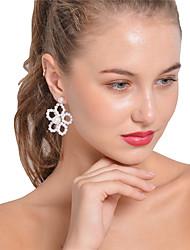 Mujer Pendientes cortos Pendientes colgantes Obsidiana Sexy Moda Personalizado Hecho a mano Joyería Destacada Perla Artificial Forma de