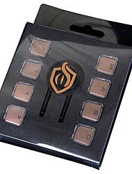 Chocolate Transparent Crystal  KeyCap 8 Keys  Keycap Set for Mechanical Keyboard