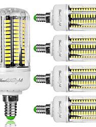 YouOKLight 5PCS E12 8W AC110-130V 136*5733 SMD LED Cold White 6000K High Luminous Corn Bulb Spotlight LED Lamp Candle Light for Home Lighting