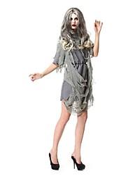 Une Pièce/Robes Costumes de Cosplay Esprit Zombie Cosplay Fête / Célébration Déguisement d'Halloween Rétro Robes Halloween Carnaval