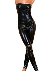 Hip-pop Black Girl Sexy Halloween Costume de simili-cuir Léotard femmes