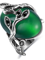 Hombre Mujer Anillos Ópalo Diseño Básico Amor Sexy Moda Personalizado Estilo lindo Joyería de Lujo Clásico Elegant Legierung Forma Oval