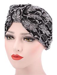 Для женщин Шапки Цветы Широкополая шляпа,Весна/осень Зима Хлопок Пэчворк Цветочный