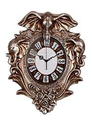 Модерн Традиционный Деревенский Повседневный Ретро Животные Настенные часы,Слон Животный принт Резина В помещении Часы