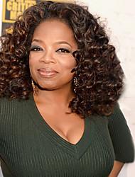 Capless человеческих волос парик 18 глубоких волн человеческих волос женщин леди ежедневный костюм полный голова глубокий курчавый средний