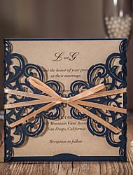 Format Enveloppe & Poche Invitations de mariage 20-Cartes d'invitation Style classique Papier gaufré