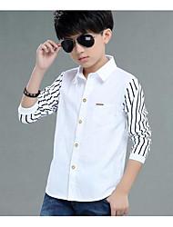 Boys' Stripe Stripes Shirt,Cotton Summer Fall Long Sleeve Regular