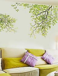 Цветочные мотивы/ботанический Наклейки Простые наклейки Декоративные наклейки на стены материал Украшение дома Наклейка на стену
