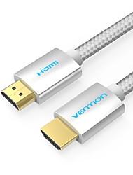 VENTION HDMI 2.0 Câble, HDMI 2.0 to HDMI 2.0 Câble Male - Male 4K*2K 2.0m (6.5ft)