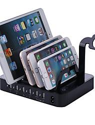 Carregador USB 6 portas Estação de carregador de mesa Com Switch (es) Dock Stand Adaptador de carregamento