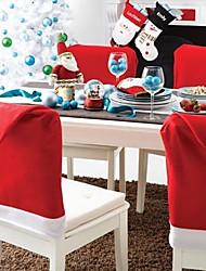 1pcs los 60 * 50cm Papá Noel tapa la decoración de Navidad