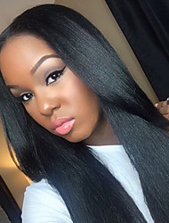 2017 Hot Selling Straight Guleless Full Human Hair Lace Wig Middle Part Guleless Lace Front Wig For Black Women Fast Shipping