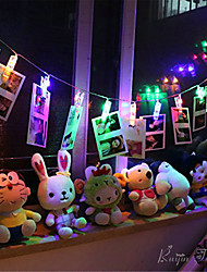 HKV® 1PCS 1.5M 10LED LED Photo Clip String Lights 10 Photo Clips Perfect for Hanging Photos Battery Powered Perfect for Hanging Pictures