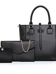 Damen Bag Sets PU Ganzjährig Normal Baguette Bag Reißverschluss Blau Weiß Schwarz Purpur