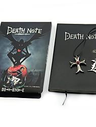 Monograma Inspirado por Death Note Yagami Raito Animé Accesorios de Cosplay Collar Más Accesorios 100 % Pulpa de Madera Metalic