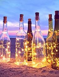 2m 20-led медный провод шнур свет с бутылкой пробкой для стеклянной бутылки ремесла фея valentines свадебное украшение лампа вечеринка