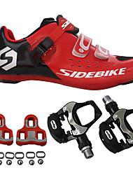 BOODUN/SIDEBIKE® Tênis Tênis para Mountain Bike Sapatilhas de Ciclismo com Travas & Pedal Unisexo Almofadado Bicicleta De Montanha