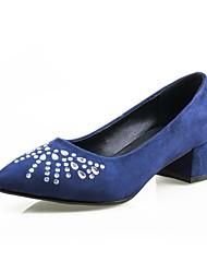 Damen Schuhe Echtes Leder Wildleder Nappaleder maßgeschneiderte Werkstoffe Andere Tierhaut Frühling Herbst Komfort Leuchtende Sohlen High