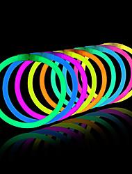 aclarar juguetes brillo palo pulseras de colores mezclados favores de partido suministros (tubo de 20)