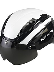 West biking Муж. Жен. Велоспорт шлем 4 Вентиляционные клапаны Велоспорт Велосипедный спорт Катание на лыжах Трейлраннинг M: 55-59 см L: