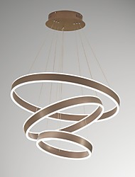 Menor regulador de iluminação leve pingente de alumínio alumínio de alumínio de ouro escovado 110-240v para iluminação moderna de sala de