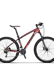 Mountain Bike Cycling 30 Speed 27.5 Inch SHIMANO Disc Brake Suspension Fork Steel Frame Carbon Anti-slip Aluminium AlloyCarbon Fiber +