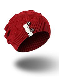 Для женщин Шапки Узор Головные уборы На каждый день Изысканный и современный Сохраняет тепло Вязаная одежда Вязаная шапочка Широкополая