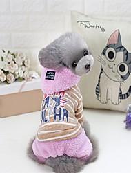 Gato Perro Abrigos Suéteres Saco y Capucha Mono Pijamas Ropa para Perro Fiesta Casual/Diario Mantiene abrigado Deportes Halloween Navidad