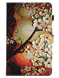 para la cubierta del caso la carpeta del sostenedor de la tarjeta con el soporte flip el patrón magnético la caja llena del cuerpo la flor