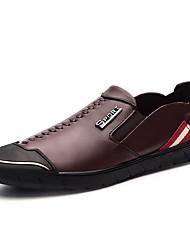 Masculino sapatos Pele Real Pele Napa Pele Outono Inverno Sapatos formais Sapatos de mergulho Conforto Mocassins e Slip-Ons Para Casual