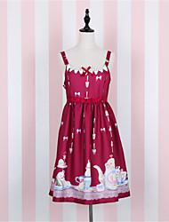 Платья/Платья Сладкое детство Цветочные принты Elegant Принцесса шаблон платье Косплей Платья Лолиты Белый Синий Красный Кофейный
