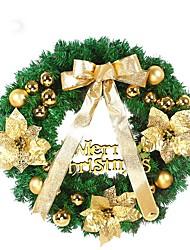 1PCS Christmas Wreath With Bow Door Drop Ornaments Wreath Room Decor 40CM