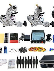 Complete Tattoo Kit 2 cast iron machine liner & shader 2 Tattoo Machines Inks Shipped Separately