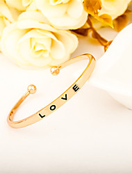 Men's Women's Cuff Bracelet Jewelry Open Simple Style Alloy Round Heart Jewelry For Party Birthday Graduation Gift Casual Valentine Date