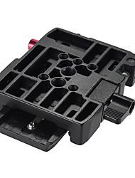 andoer trípode de cámara de vídeo adaptador de abrazadera de liberación rápida con placa de liberación rápida compatible para manfrotto