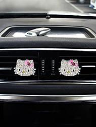 Pare-choc de la grille de sortie d'air de voiture une paire de matériel d'alliage de zinc hellokitty purificateur d'air automobile