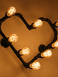 Nordic Conduit Romantic Lamp Wall Lamp Wall Lamp Light Heart Love Heart Personality Prop Wrought Iron Red Hearts