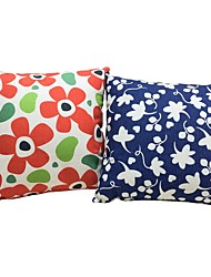 2 pçs Algodão/Linho Fronha almofada do sofá Almofada de Cama Almofada de Corpo Almofada de Vigem,Floral Cores Variadas Padrão Flor