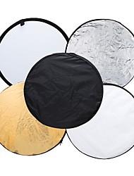 andoer 43 110cm disco 5 en 1 (oro plata blanco negro translúcido) multi portátil plegable fotografía estudio foto luz reflector