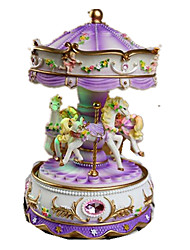 Music Box Carousel Cartoon Plastics