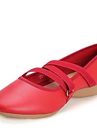 Damen Modern Leder Sneaker Im Freien Niedriger Heel Weiß Schwarz Rot Unter 2,5 cm