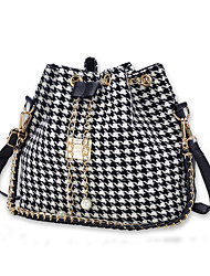 Women Bags All Seasons Canvas Shoulder Bag with for Shopping Casual White Black
