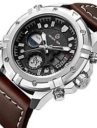 Муж. Спортивные часы Армейские часы электронные часы Японский Кварцевый LED Календарь Секундомер Защита от влаги Светящийся