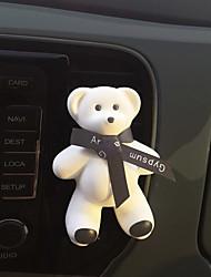 voiture air extérieur grille parfum noir ruban mignon grand ours rencontre parfum océan purificateur d'air automobile