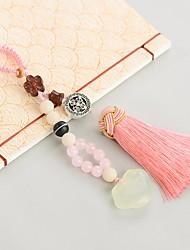 saco / telefone / chaveiro charme cristal / estilo de strass borla brinquedo cartoon cristal poliéster nylon estilo chinês 14cm